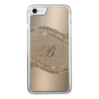 Silver Stainless Steel & Diamonds Pattern Print 4 Carved iPhone 8/7 Case