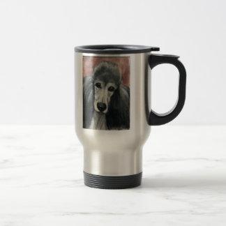 """""""Silver Standard Poodle"""" Art Travel Mug"""