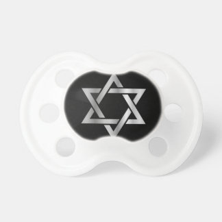 Silver Star of David- Jewish Pacifier