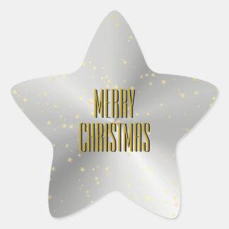 Silver Star Shaped Christmas Envelope Seal