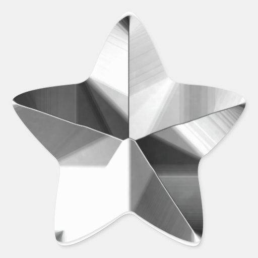 Silver Star Sticker