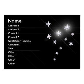Silver Stars - Chubby Business Card