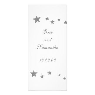 Silver Stars menu cards Rack Card Template