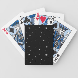 Silver Stars On Black Bicycle Playing Cards