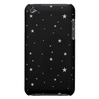 Silver Stars On Black Barely There iPod Cover