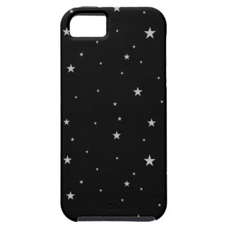 Silver Stars On Black iPhone 5 Case