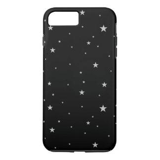 Silver Stars On Black iPhone 8 Plus/7 Plus Case