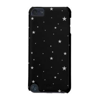 Silver Stars On Black iPod Touch (5th Generation) Cases