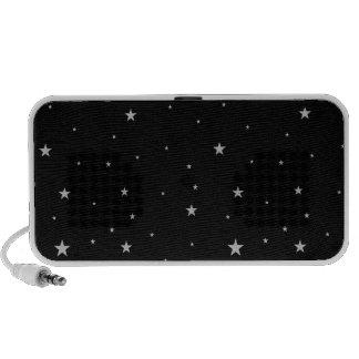 Silver Stars On Black iPhone Speakers