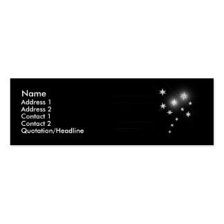 Silver Stars - Skinny Business Card