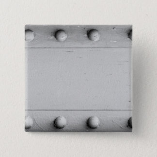 Silver Steel Layout with Bolts 15 Cm Square Badge