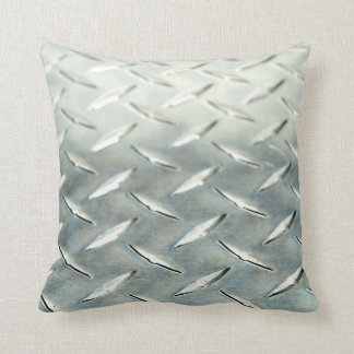 SILVER STEEL THROW PILLOW