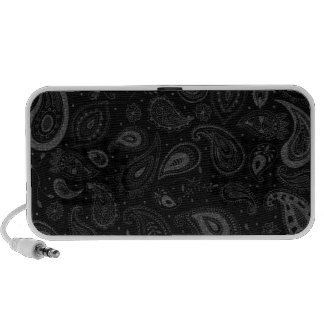 Silver Stitched Paisley Travelling Speakers