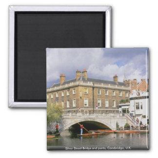 Silver Street Bridge and punts, Cambridge, U.K. Magnet