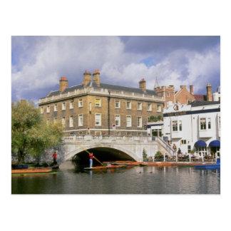 Silver Street Bridge and punts, Cambridge, U.K. Postcard