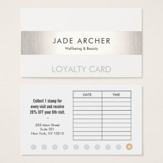 Silver Stripe Customer 10 Punch Salon Loyalty Card