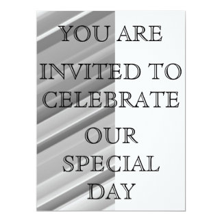 Silver Stripe Invitation
