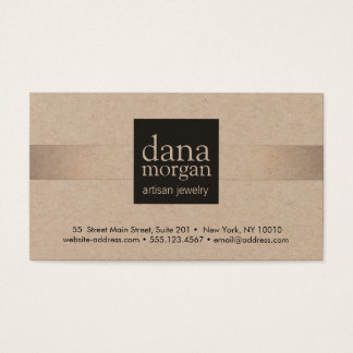 Silver Stripe Jewelry Designer Business Card
