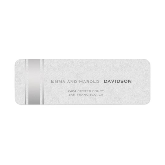 Silver Stripes White Leather Custom Monogram