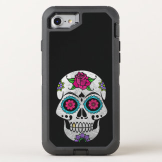 Silver Sugar Skull iPhone X Otterbox Case