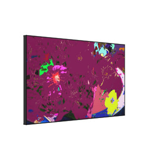 Silver Surfing Abstract Expressionism Canvas Print