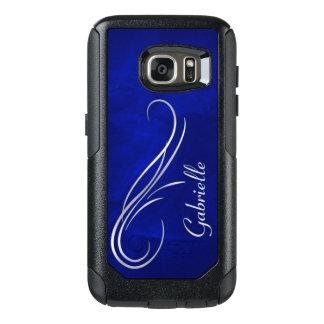 Silver Swirl on Blue OtterBox Samsung Galaxy S7 Case