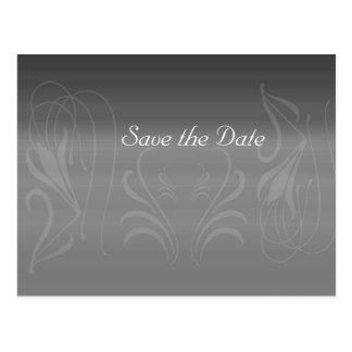 Silver Swirls Anniversary Save the Date Postcard