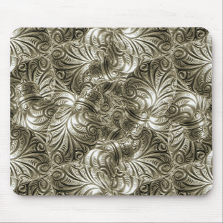 Silver Swirls Background Mouse Pad