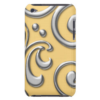 Silver Swirls iPod Touch 4G Case Case-Mate iPod Touch Case