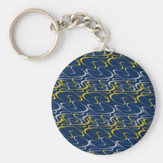 Silver Swirls key chain