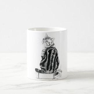 Silver Tabby Basic White Mug