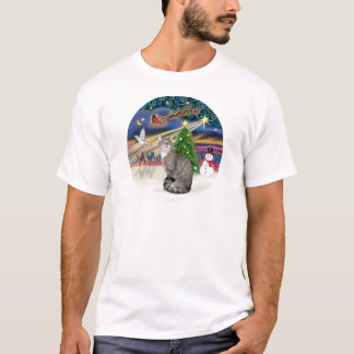 Silver Tabby - Christmas Magic T-Shirt