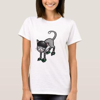 Silver Tabby on RollerSkates T-Shirt