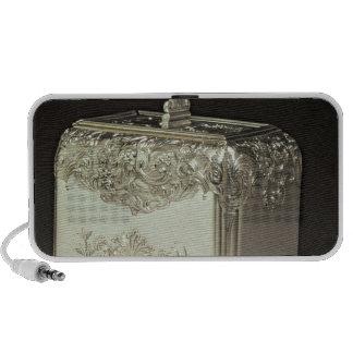 Silver tea canister by Paul de Lamerie Mini Speakers