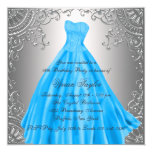 Silver Teal Blue Sweet Sixteen Birthday Party