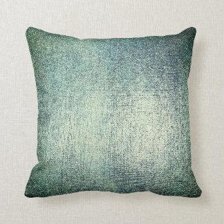 Silver Teal Greenly Gray Cali Metallic Blush Cushion