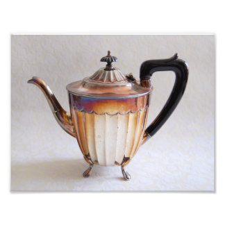 Silver Teapot Photography Print