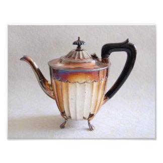Silver Teapot Photography Print Photograph
