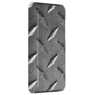 silver textured metal barely there iPod cases
