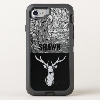 Silver Textured Stag Deer Hunting Phone Case