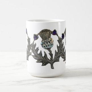 Silver Thistles Coffee Mug