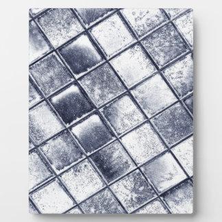 Silver tiles plaque