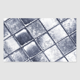 Silver tiles rectangular sticker