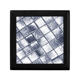 Silver tiles small square gift box