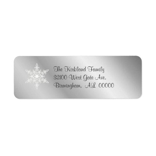 Silver tone Address Labels