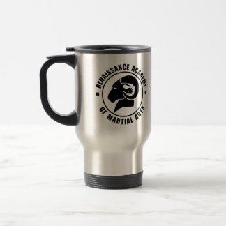 Silver Travel Mug, Black RAM Logo Travel Mug