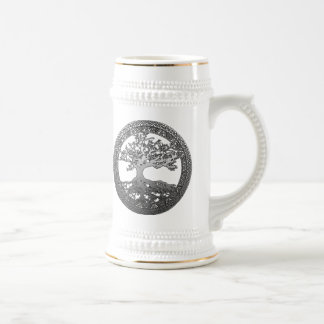 Silver Tree of Life Beer Stein