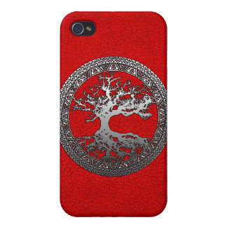 Silver Tree of Life Case For The iPhone 4