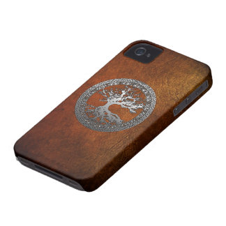 Silver Tree of Life iPhone 4 Covers
