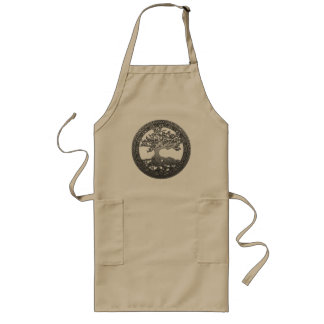 Silver Tree of Life Long Apron